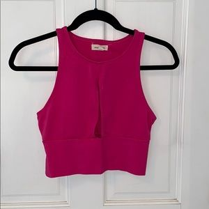 Urban Outfitters pink crop top